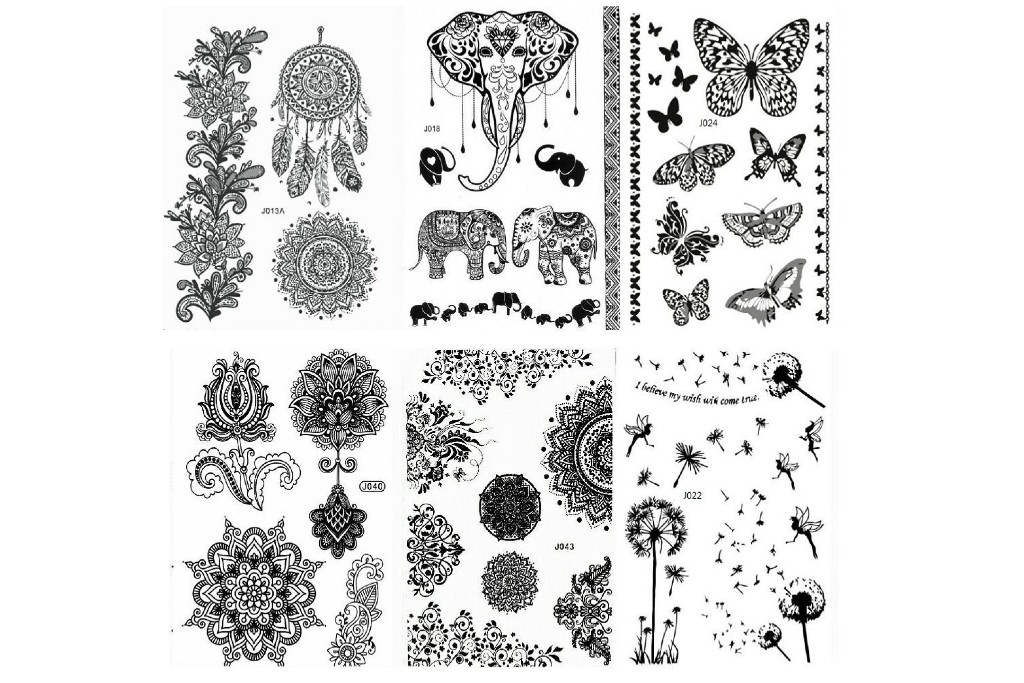 Pinkiou Henna Tattoo Stickers