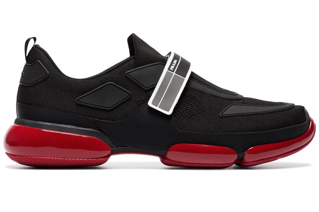 prada, mens, sneakers, red sole, bottom