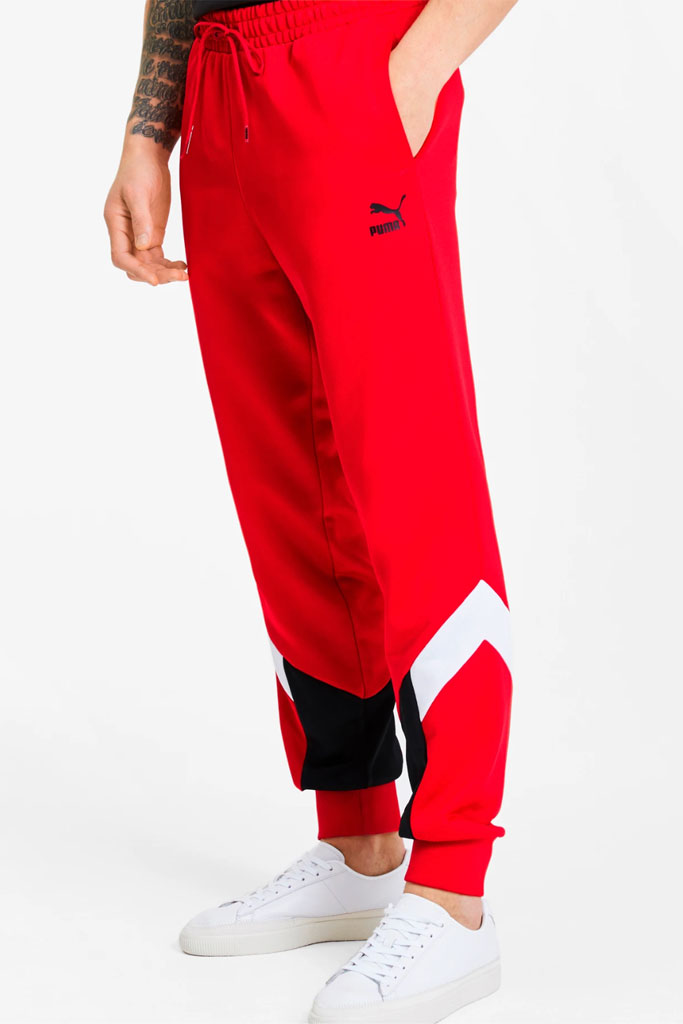 Puma, track pants, red, shop