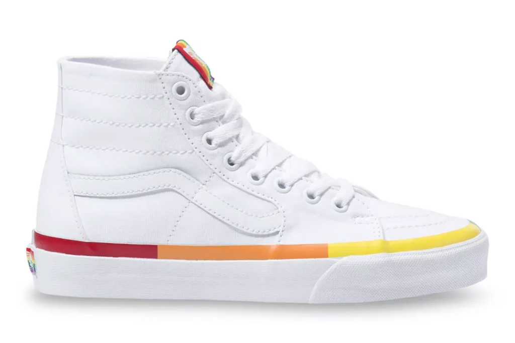 rainbow vans, vans sneakers, shoes for pride