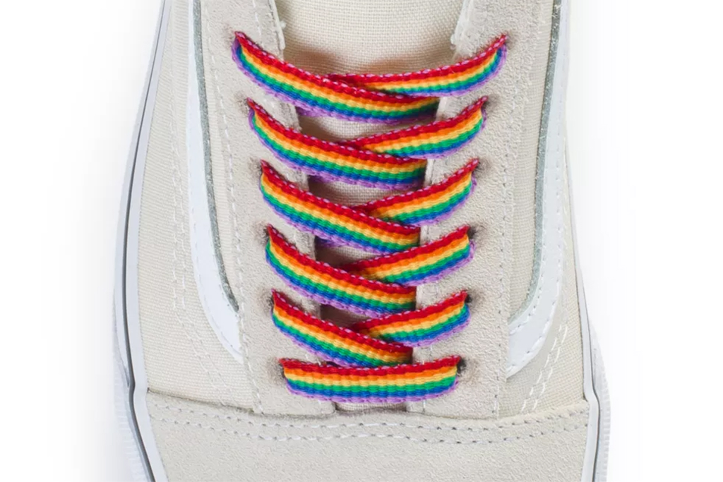 rainbow vans, rainbow laces, shoe laces