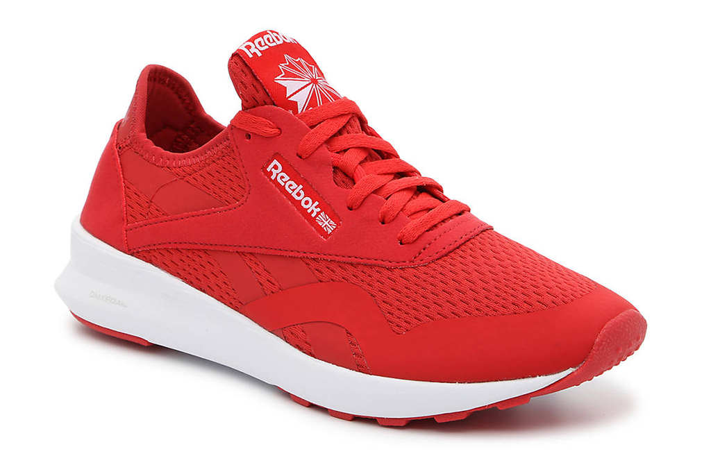 reebok, red sneakers