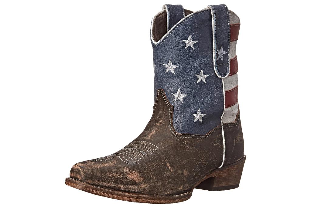 roper, american flag, boots