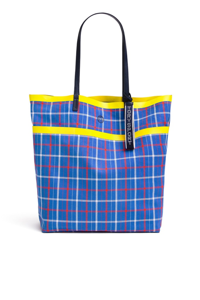 Tory Sport Large Plaid Tote, rent the runway, sample sale