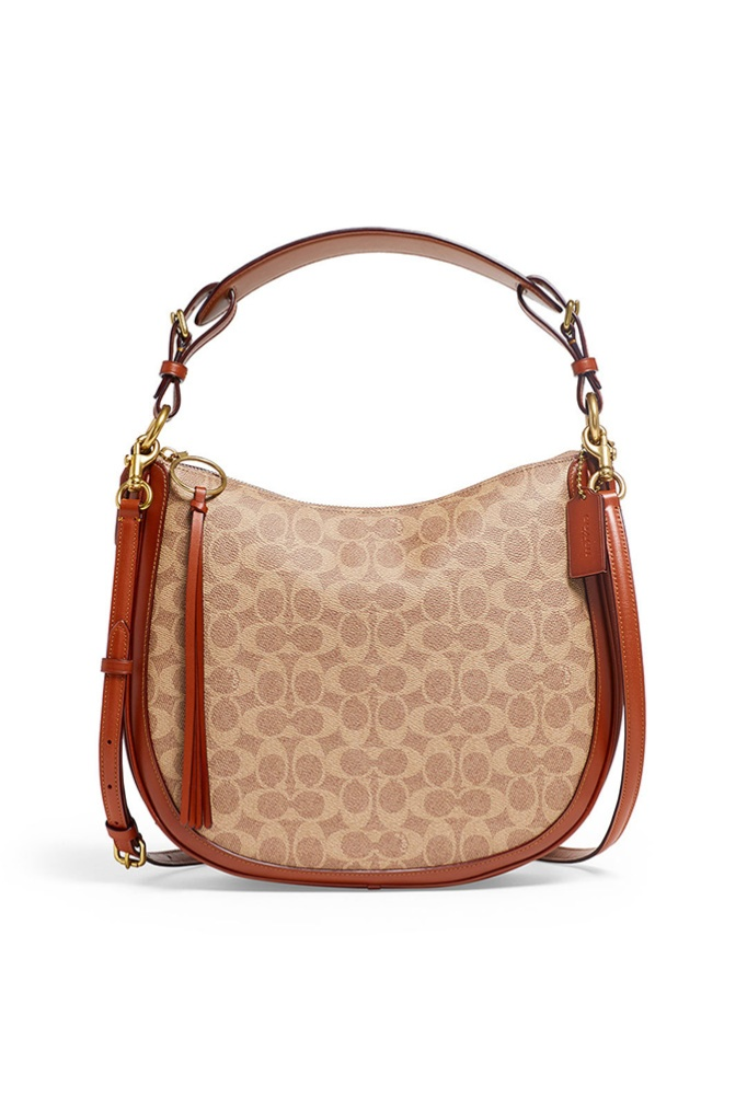 coach Signature Canvas Sutton Hobo Bag, rent the runway, sample sale