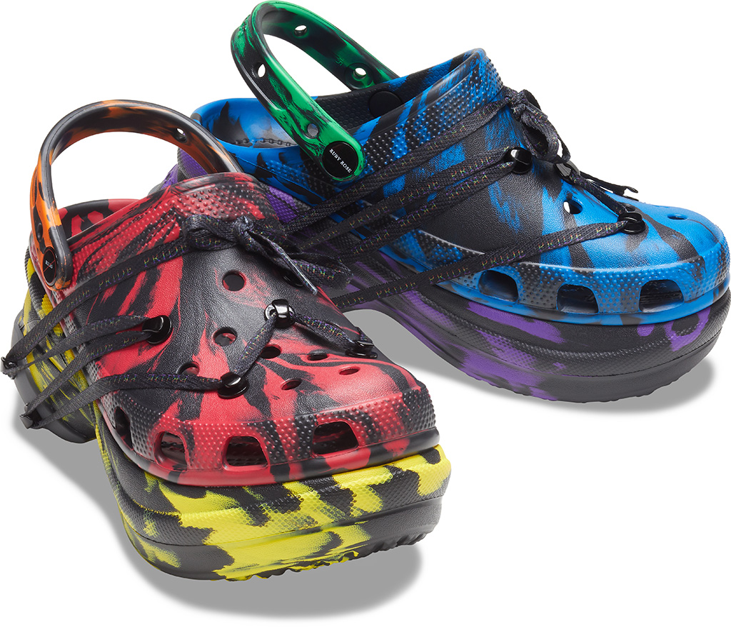 crocs, ruby rose, pride month, collaboration, Just Love designed by Ruby Rose Crocs Classic Bae Clog
