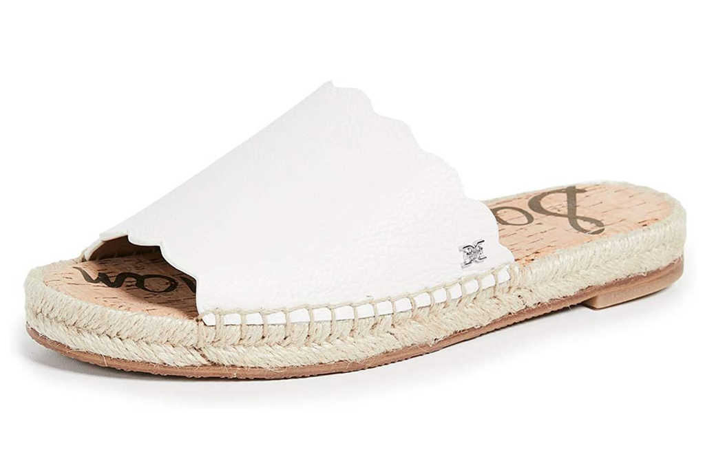 sam edelman, white sandals