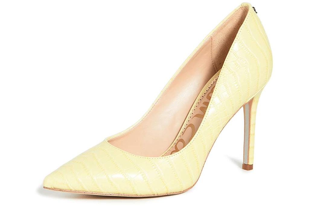 sam edelman, pumps, yellow