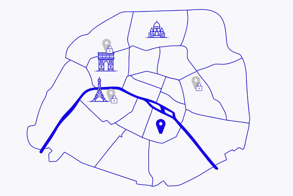 Paris fashion week map
