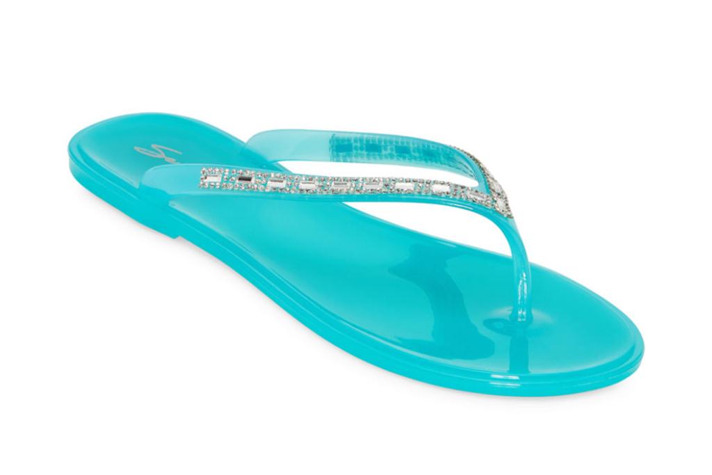 seven 7, slide, flip flop