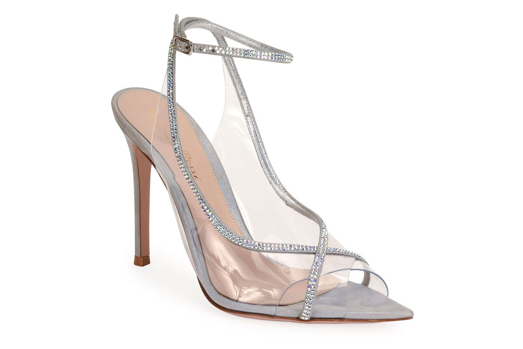 Gianvito Rossi, Open toe, strass, sandal, cinderella shoes
