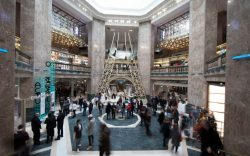 Shoppers tour the newly opened Galeries