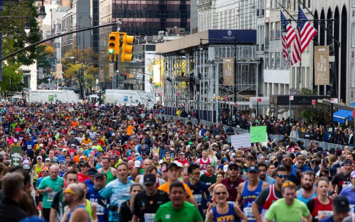 Runners take part in the New York City Marathon, in New YorkNYC Marathon, New York, USA - 03 Nov 2019