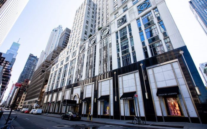Bergdorf Goodman's luxury department store on Fifth Avenue in Midtown Manhattan during the Virus Outbreak in New YorkCoronavirus Covid-19 outbreak, New York, USA - 06 Apr 2020