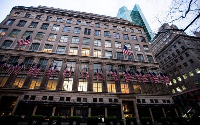 Saks 5th Avenue department store in Midtown ManhattanCoronavirus outbreak, New York, USA - 14 Apr 2020