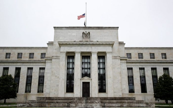 This photo shows the Federal Reserve building in WashingtonFederal Reserve, Washington, United States - 22 May 2020