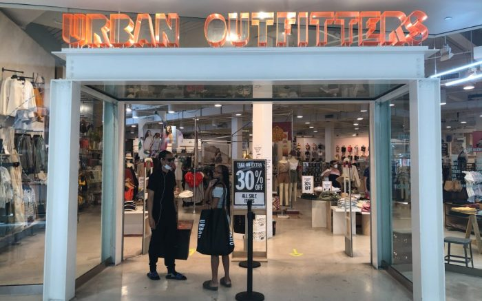 Aventura- May 23: Urban Outfitters. COVID-19 The Aventura Mall as people go about their daily activities, shopping and dining at stores and restaurants during the reopening in Dade County in accordance with Phase 1 opening businessesReopening of businesses, Aventura, Florida, USA - 23 May 2020