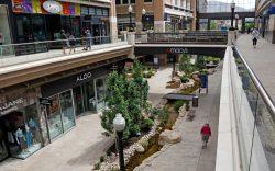 Shoppers walk through City Creek Center