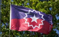 The Juneteenth flag, commemorating the day