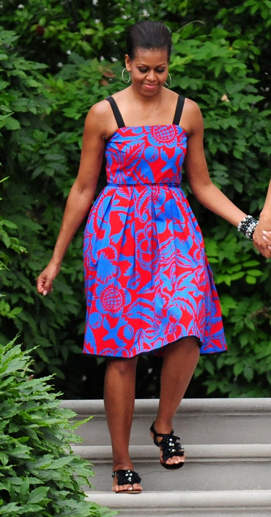 First Lady Michelle Obama, sophie theallet dress, barbecue, Independence Day barbeque, White House, Washington DC, America - 04 Jul 2011Independence Day barbeque for members of the armed services and White House staff and their families on the South Lawn of the White HouseFirst Lady Michelle ObamaIndependence Day barbeque, White House, Washington DC, America - 04 Jul 2011Independence Day barbeque for members of the armed services and White House staff and their families on the South Lawn of the White House