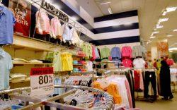 A shopper browses Lands' End merchandise,