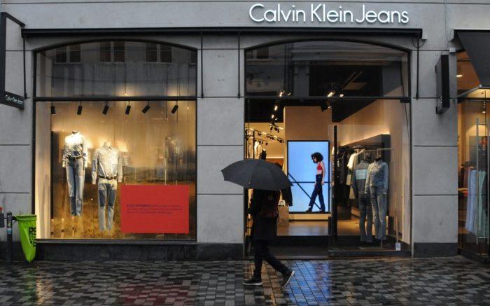 Calvin Klein Jeans storeHigh street stores, Copenhagen, Denmark - 23 Oct 2018