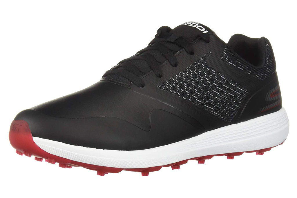 skechers, red golf, shoes