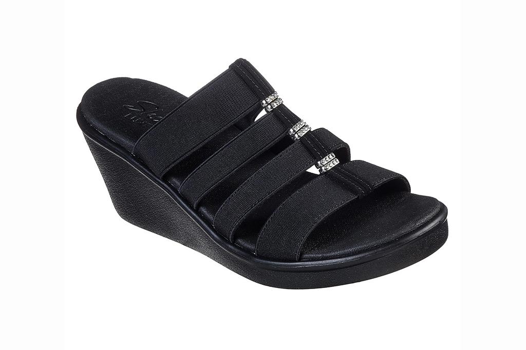 skechers sandal sale, skechers rumble on sandals, black sandals