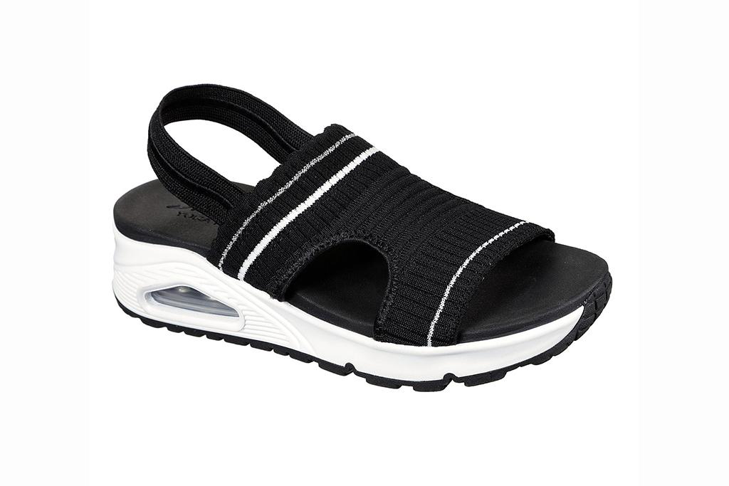 skechers sandal sale, skechers uno coolio sandal, black sandals