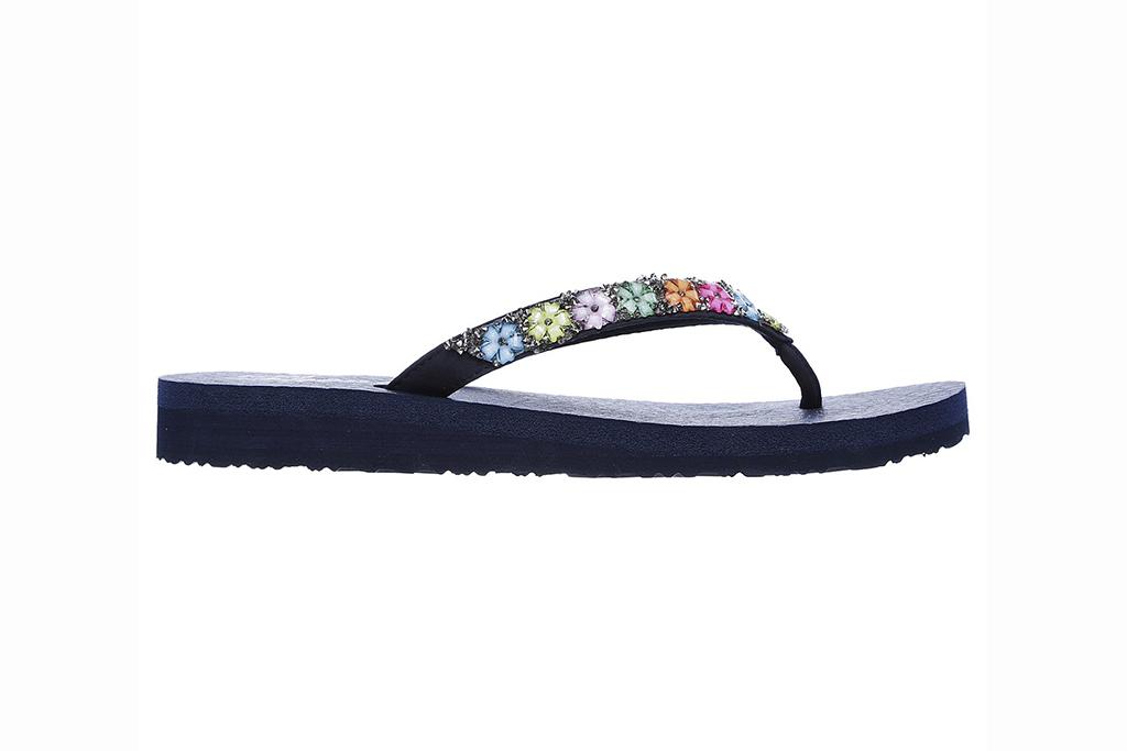 skechers sandal sale, skechers flip flops, flower embellished flip flops