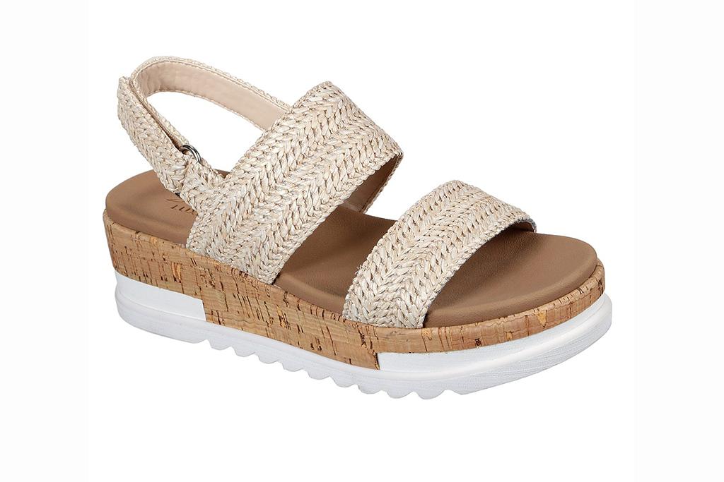 skechers sandal sale, skechers honey rise, raffia sandals