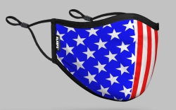 sleefs, face mask, american flag, red