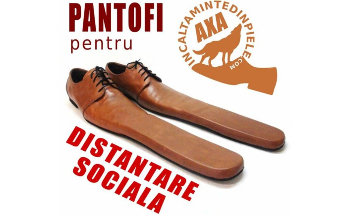 Social distancing shoes, size 75 shoes