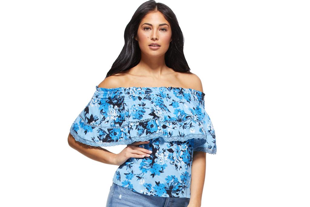 Sofia Jeans by Sofia Vergara, off-the-shoulder top