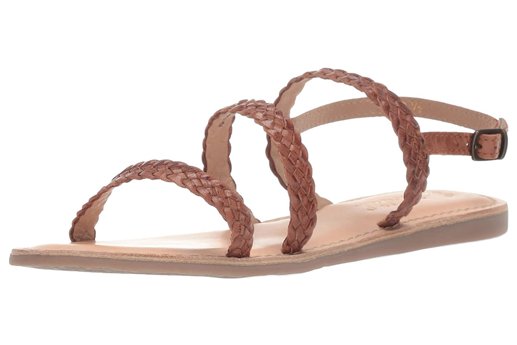 splendid sandals, brown, braided
