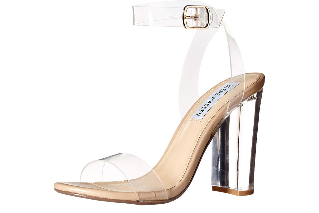 Steve Madden, clear sandals