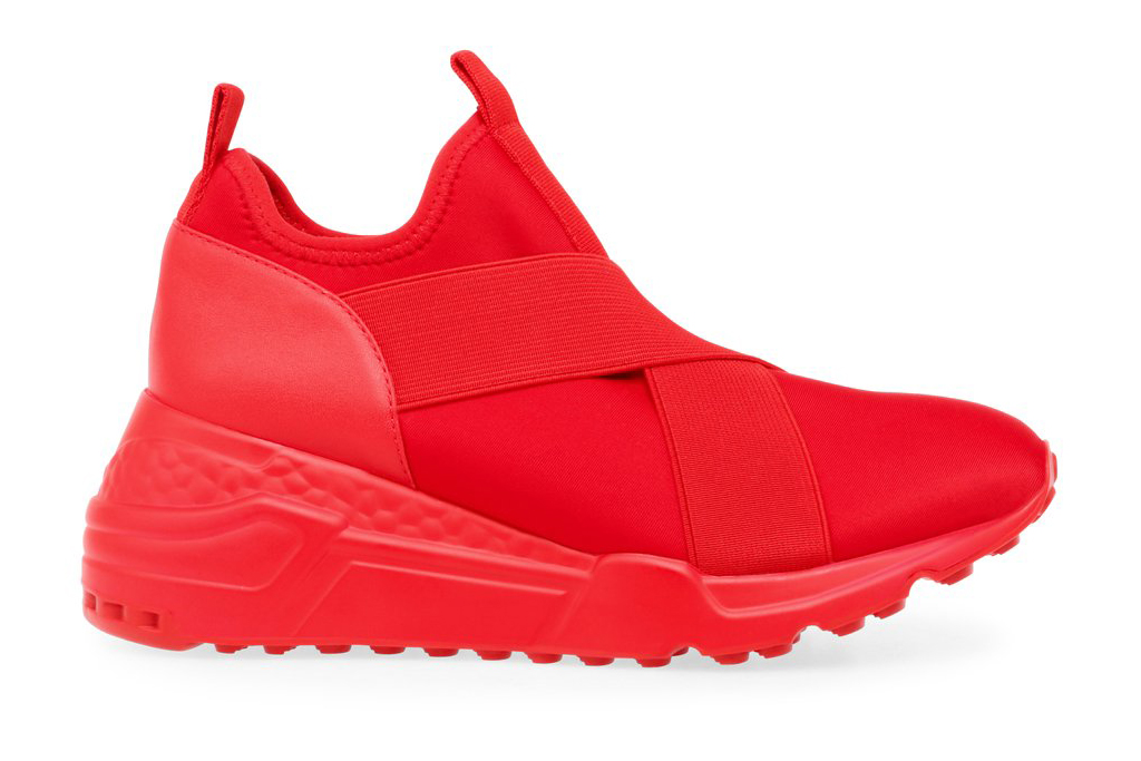 steve madden, cryson, sneakers, red