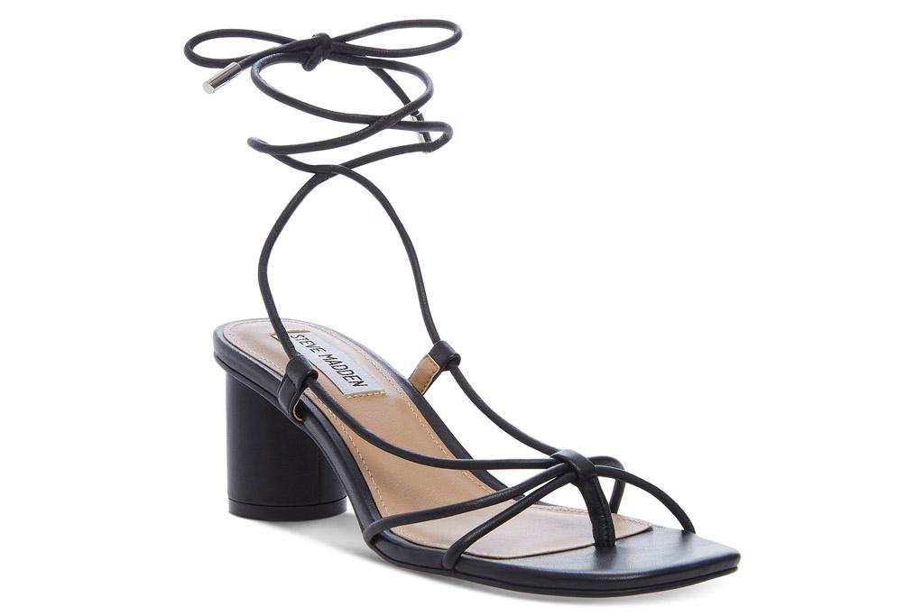 steve madden, sandals, square toe