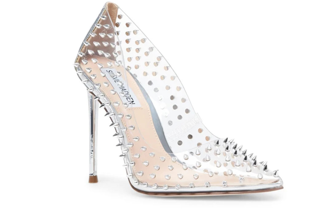Steve Madden, Studded Pumps, Steve Madden VALA-S + BSEDUCE Clear, cinderella shoes