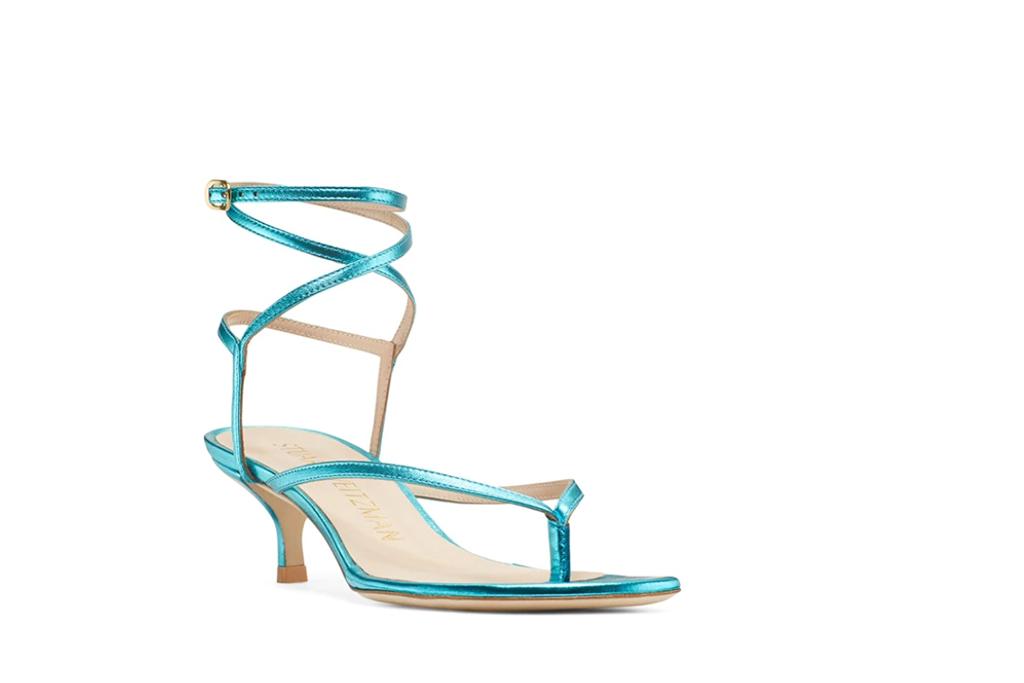 stuart weitzman, flip flop heel, aletha 50 sandal
