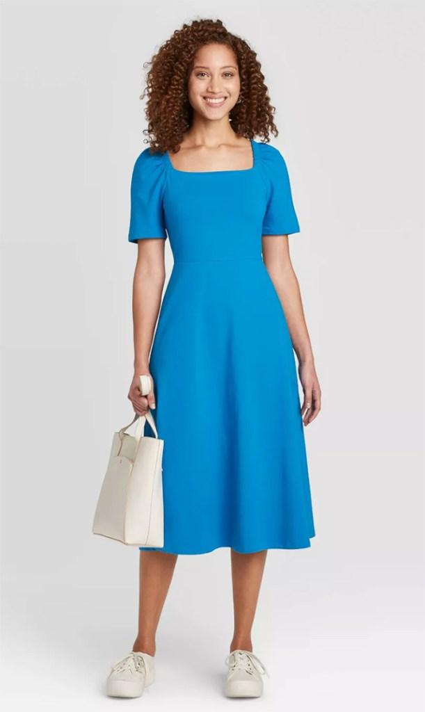 target, blue dress