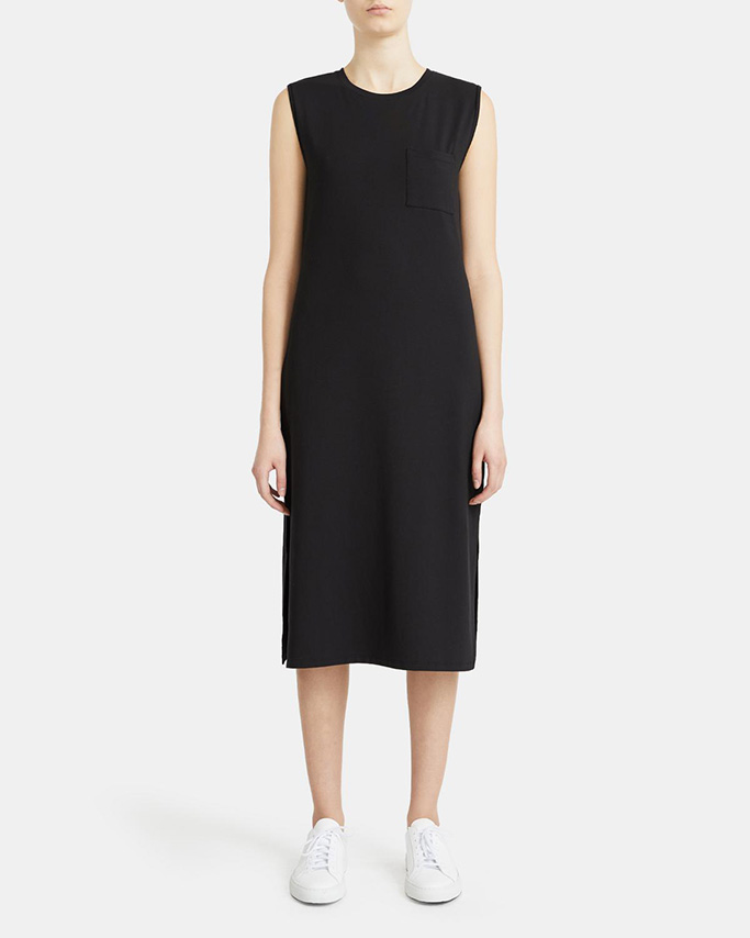 theory flash sale, theory muscle dress, black sumer dress