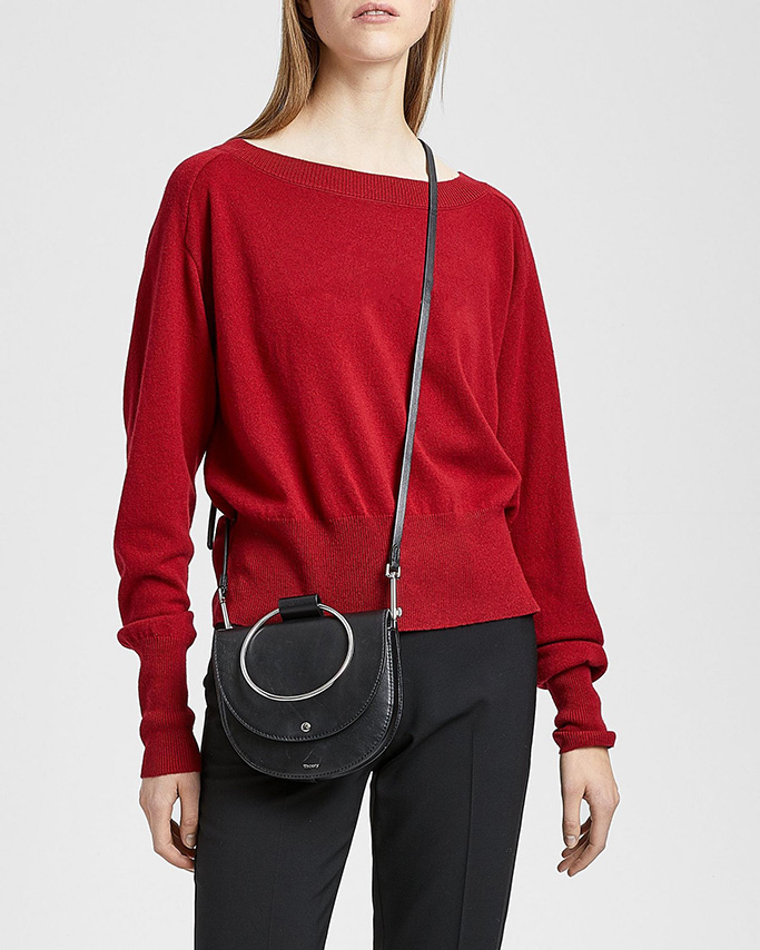 theory flash sale, theory crossbody bag, luxury leather bag
