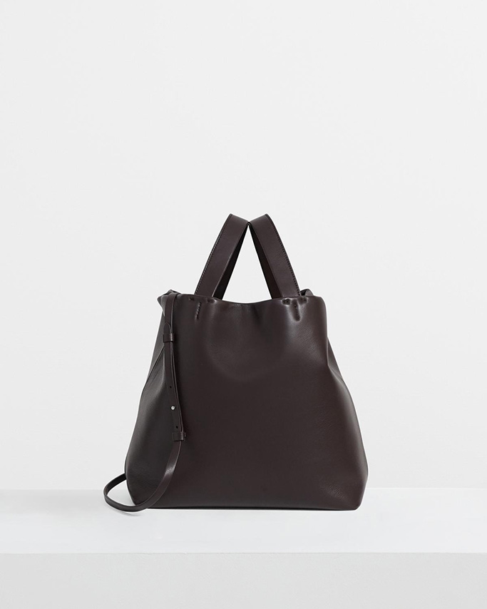 theory flash sale, theory tote bag, black leather bag