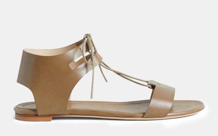 theory flash sale, theory gladiator sandal, leather sandal