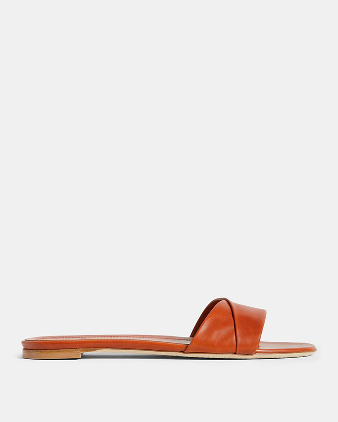 theory flash sale, theory sandals, leather slides