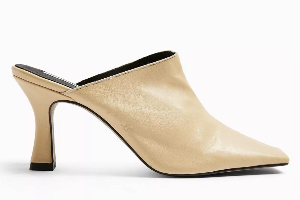 topshop shoe sale, topshop mules, white mules