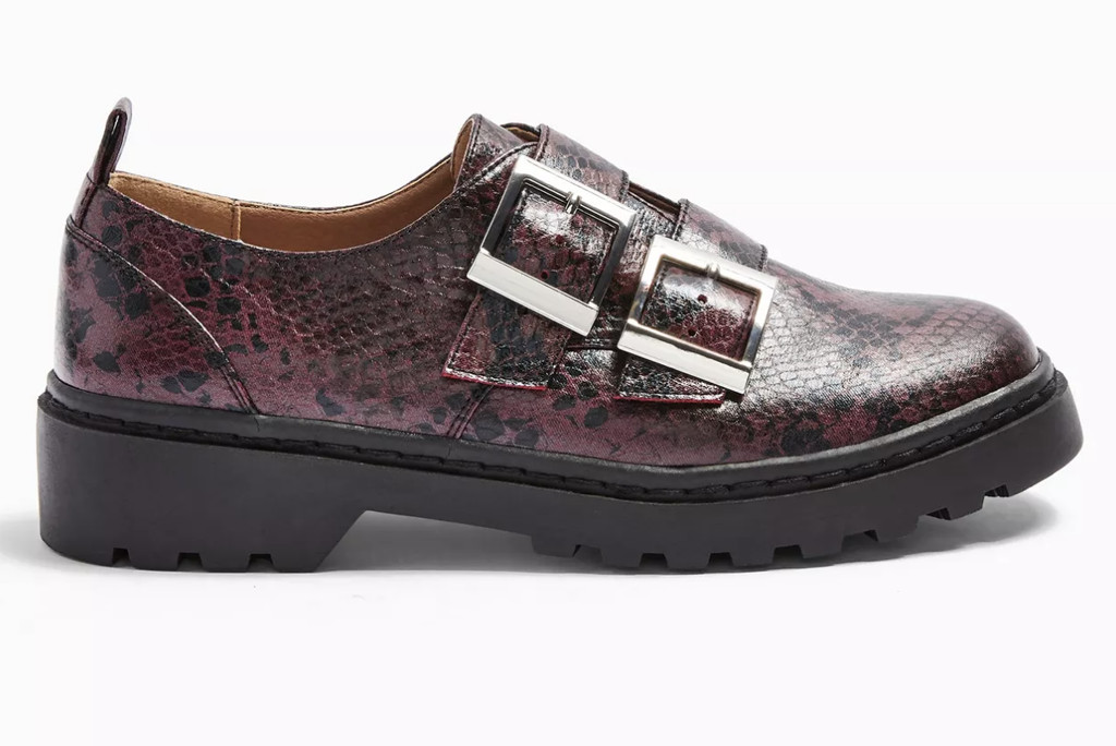 topshop shoe sale, topshop snakeskin loafers, chunky loafers