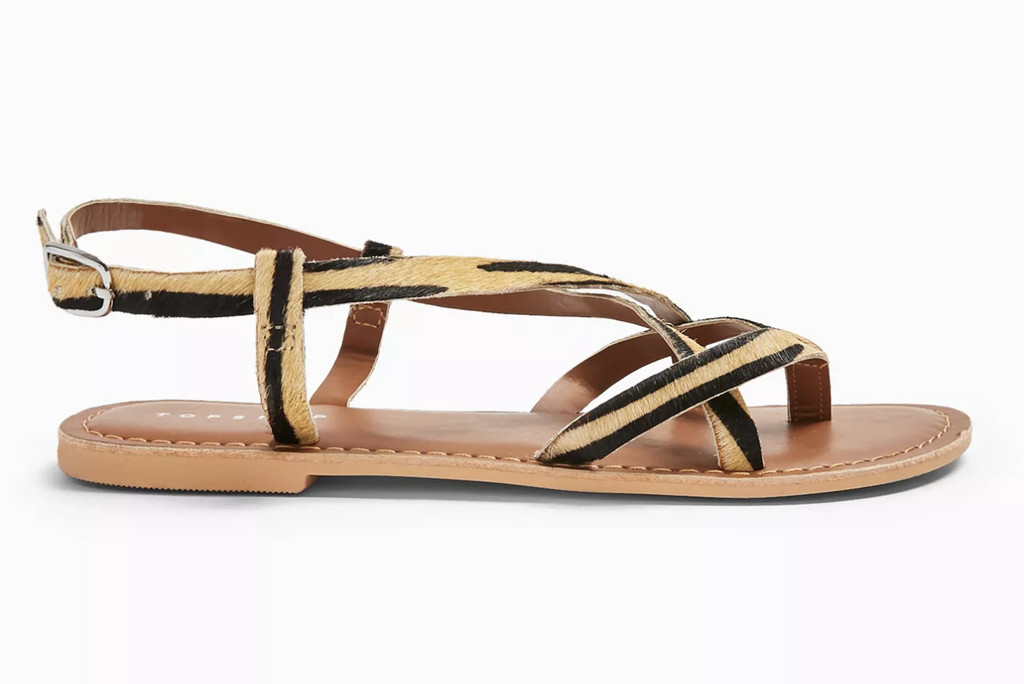 topshop shoe sale, topshop sandals, animal print sandals