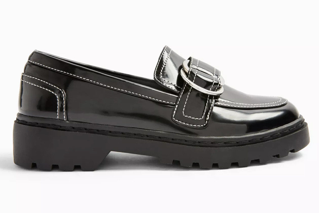 topshop shoe sale, topshop loafer, black loafer